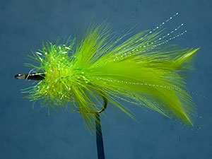 Helm's pike fly, chartreuse image